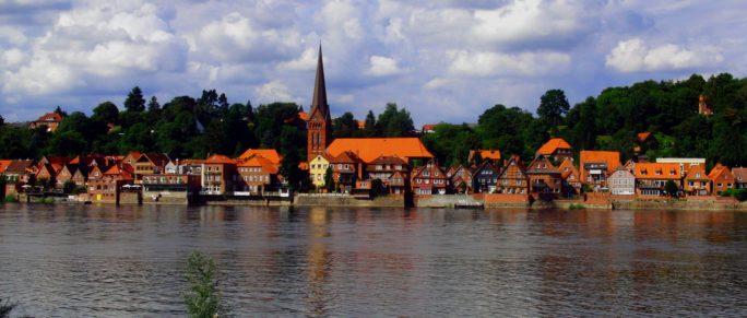 Panorama-Ansicht von Lauenburg / Elbe
